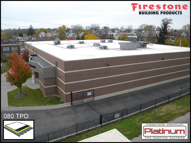 Elder High School Schriver Center   Fully Adhered .080 White TPO Roofing  System With 30 Year Enviro Ready Warranty (suitable For Future  Photo Voltaic (solar ...